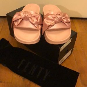 Pink Fenty x Puma Slides, worn 1x